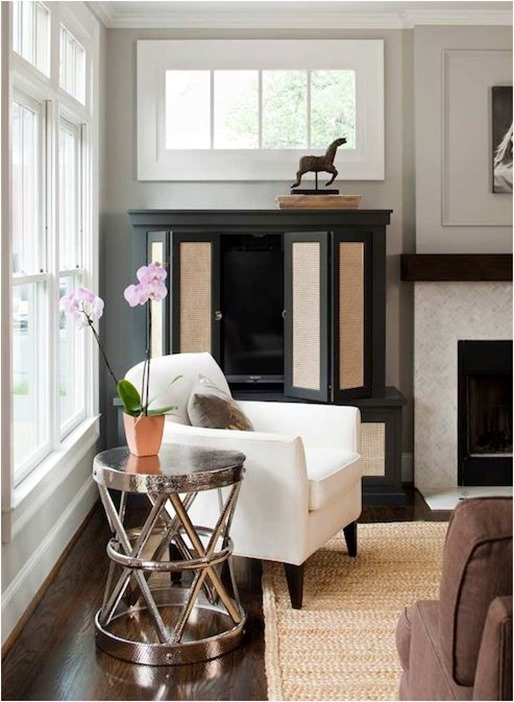 black painted armoire