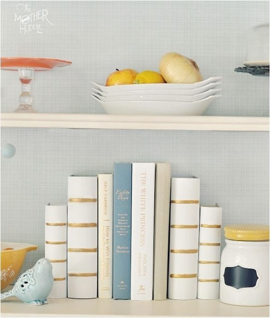 diy bookends themotherhuddle