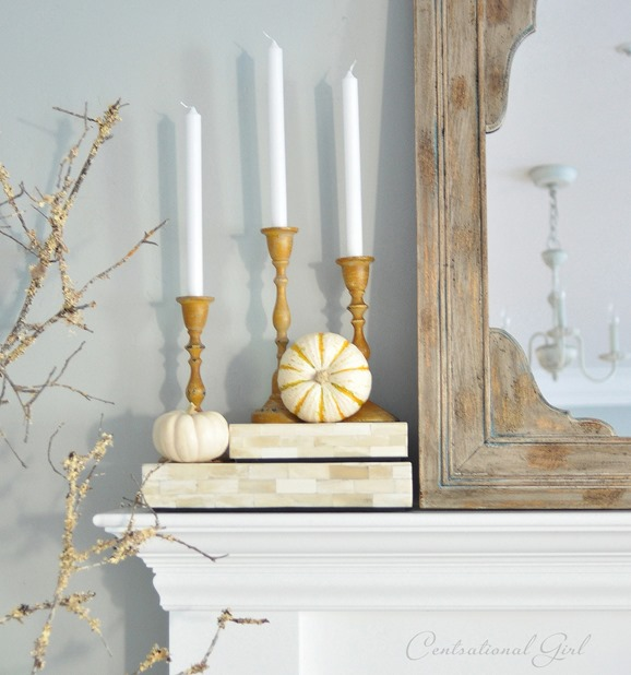 trio of yellow candlesticks