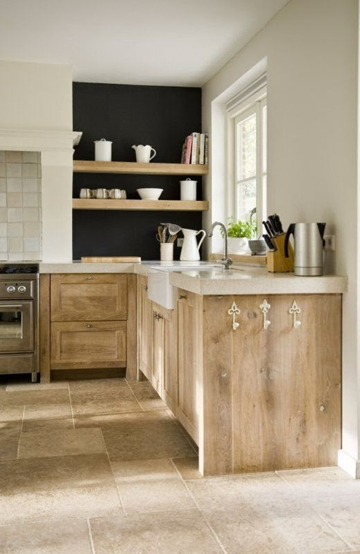 Rustic Wood Kitchen Lower Cabinets
