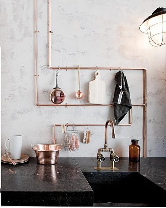 copper pipe rack