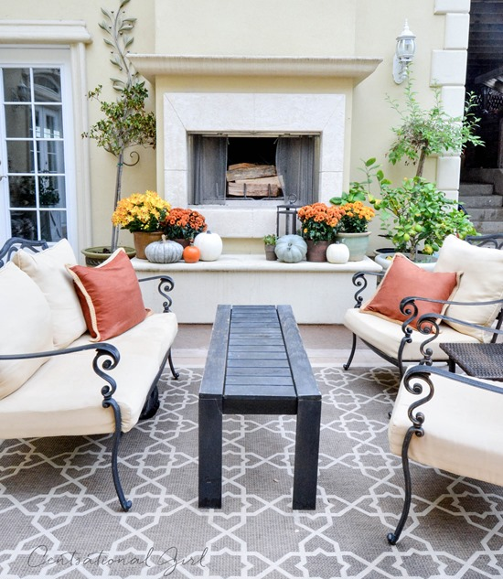fall outdoor seating area