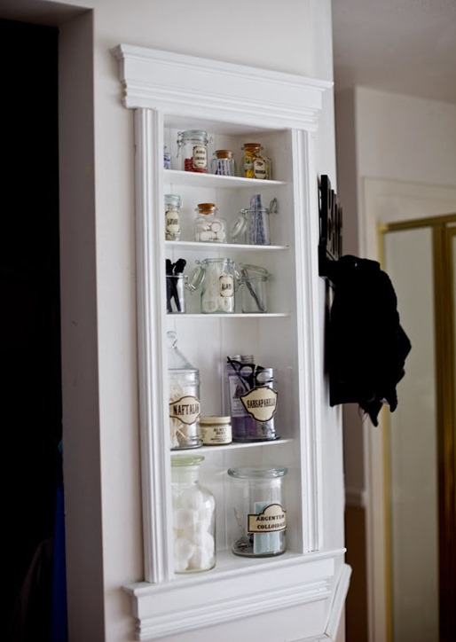bathroom niche storage