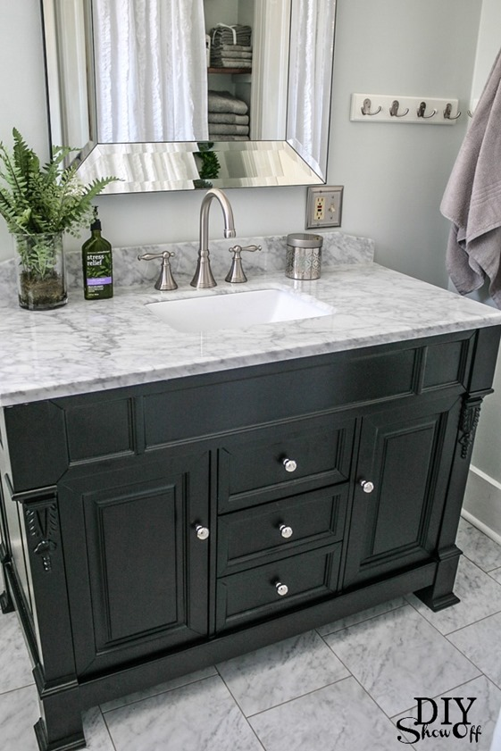 bathroom remodel diy showoff
