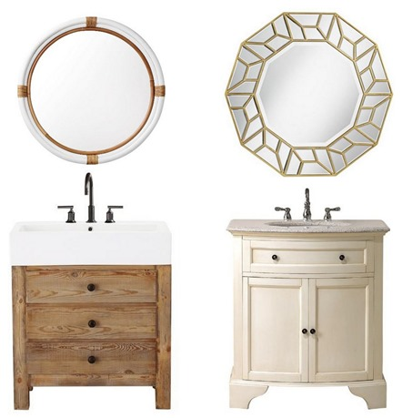 bathroom vanities and mirrors