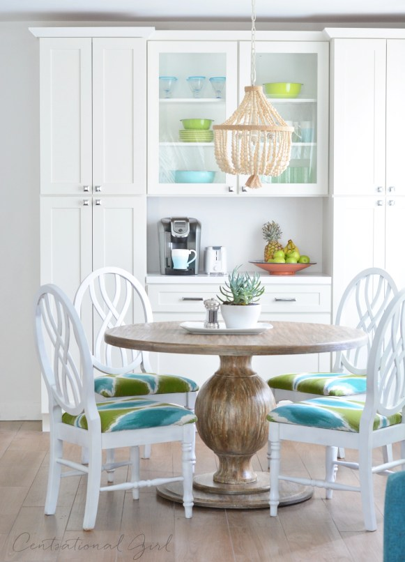 breakfast nook and pantry