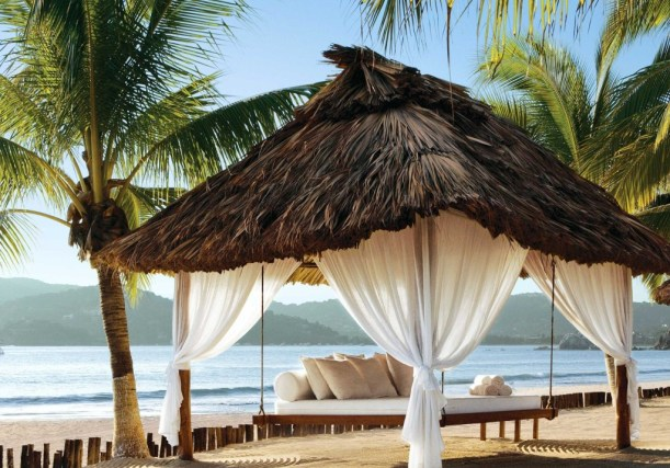 outdoor bed resort zihuatanejo