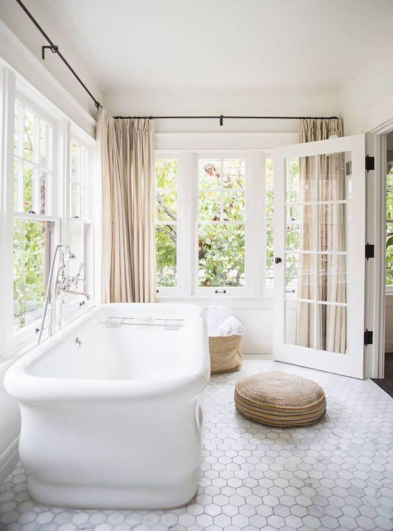 marble hex tile bathroom floor | My Web Value
