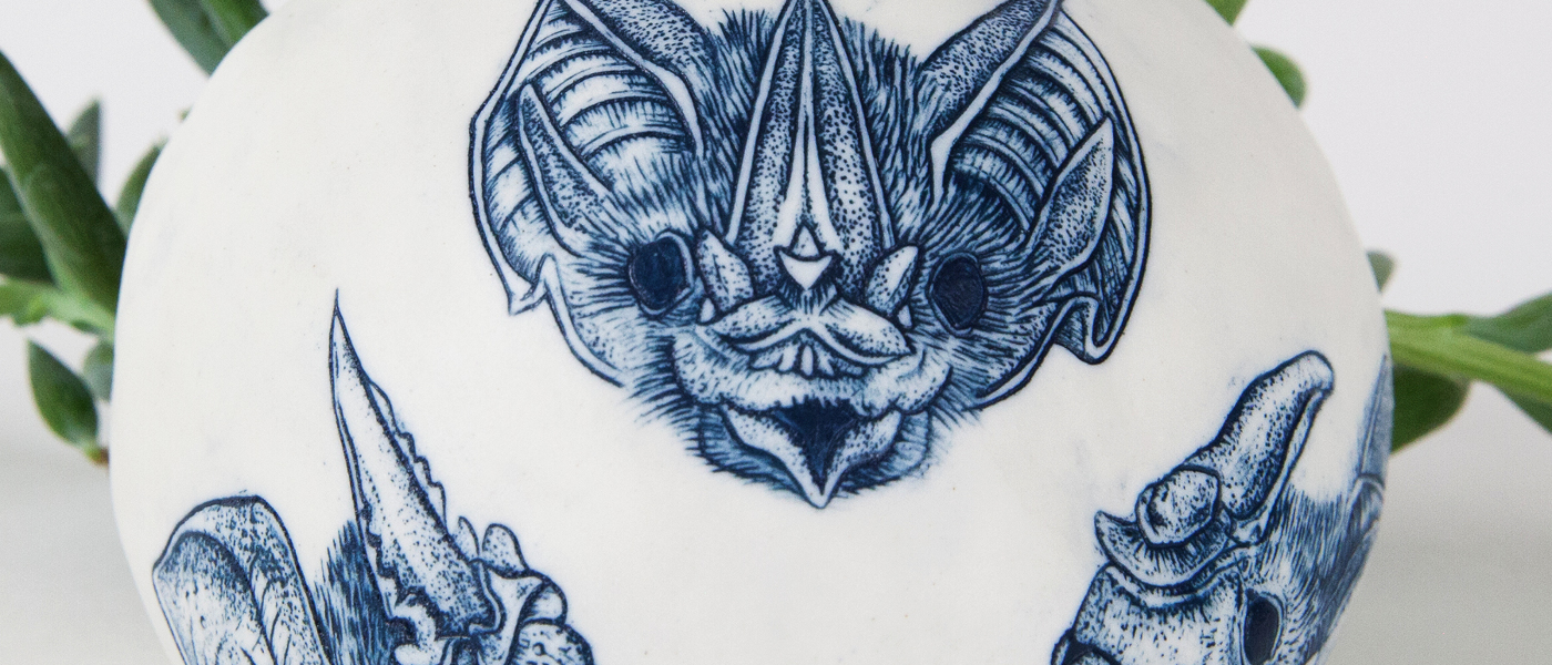 Griffin, Bat Planter, Detail 1