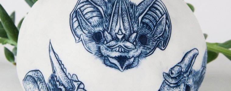 Griffin, Bat Planter, Detail 1