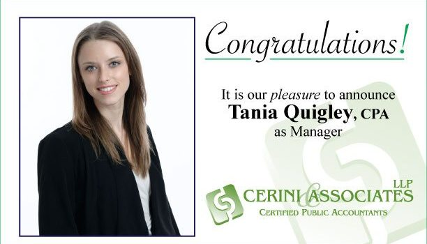 Press Release: Cerini & Associates, LLP Promotes from Within and Welcomes New Staff