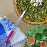 Quiche veggie - épinards, champignons et feta