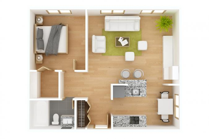 Free Interior Design Programs 3D floor plan