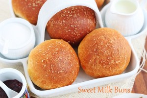 Evaporated milk sweet buns