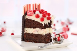 Christmas Devil's Chocolate Cake with Cream Cheese Frosting