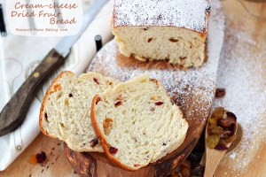 Cream cheese dried fruit bread