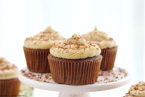 Chocolate coffee cupcakes with coffee buttercream frosting
