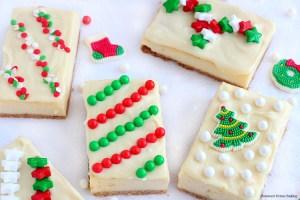 Holiday cheesecake presents
