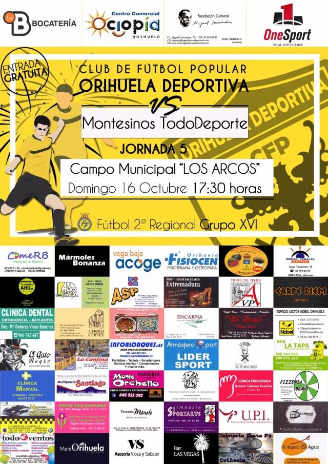 Cartel de partido CFP - Montesinos TD