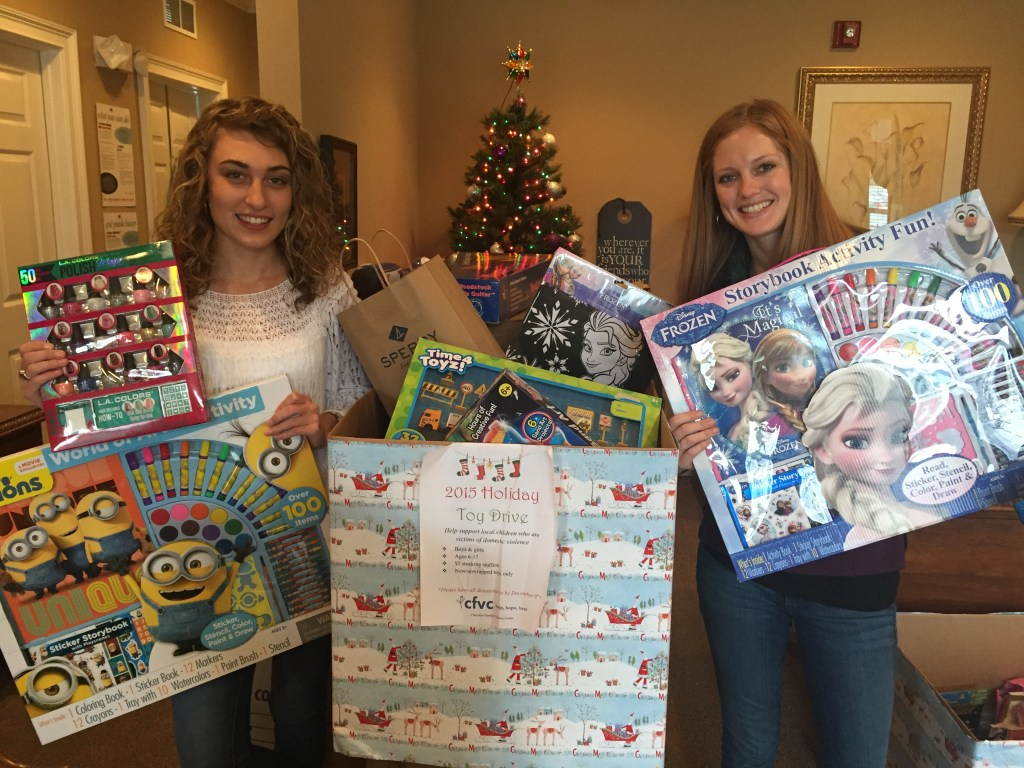 Sequoyah HS student Tori Gregg conducted a toy drive for the CFVC Children's Program