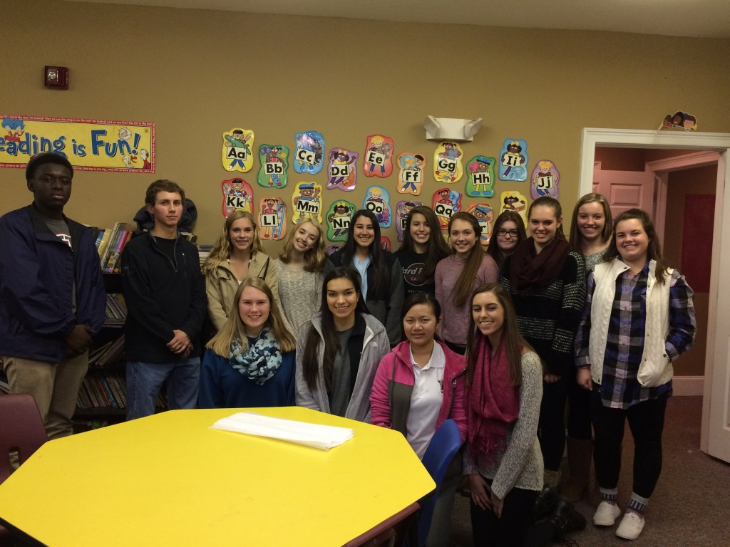 Woodstock HS Beta Club hosted a Christmas party for the children in our program