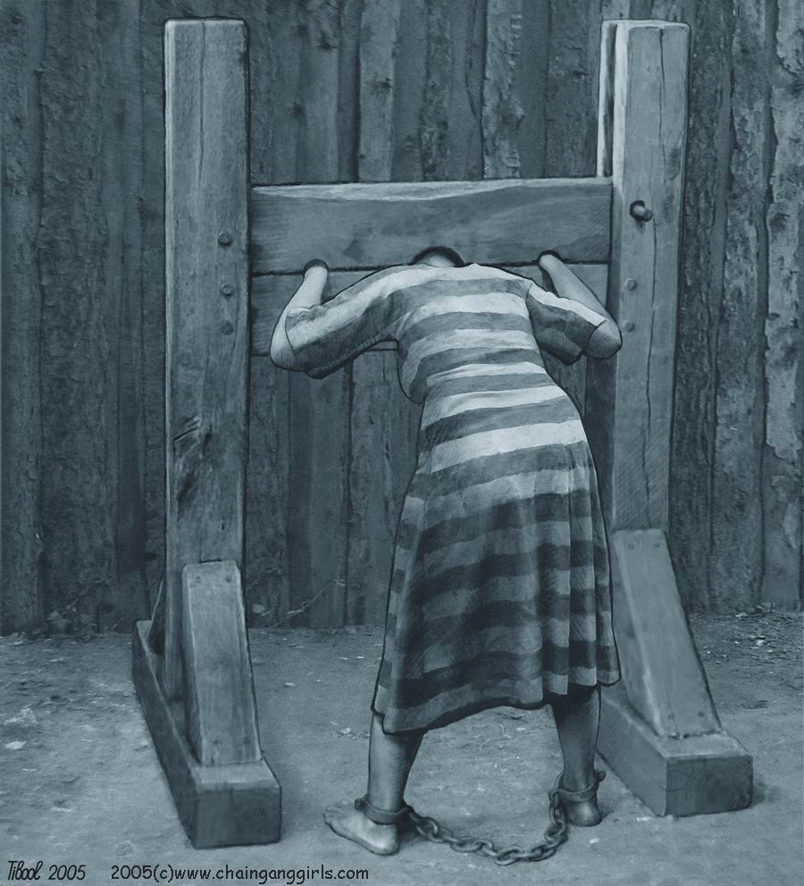 females in the pillory