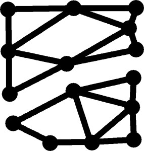 Every vertex has an even degree, yet the picture cannot be drawn with a single stroke.