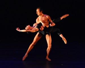 Chamber Dance Project, dancers & musicians Luz San Miguel and Davit Hovhannisyan in Berceuse choreographed by Diane Coburn Bruning. (Paul Wegner/Paul Wegner)