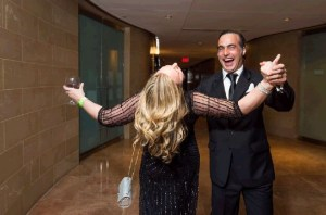 Jennifer Starling, of Metro Offices, gets dipped by Top First Secretary Francisco Lopez Achaval of the Argentinean Embassy at the Tango with the Stars gala on April 10th. (Photo by Kate Warren)