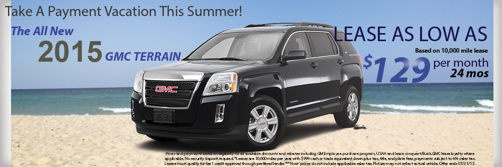 Champion GMC Buick Blog   Champion GMC Buick of Brighton  MI Blog OFFER 2015 GMC TERRAIN AS LOW AS  129 PER MONTH FOR 24 MONTHS