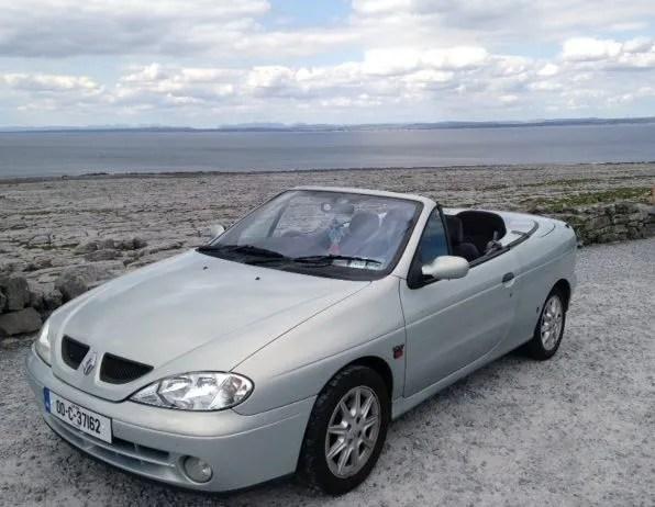 Breandán's beloved Renault Megane Cabriolet
