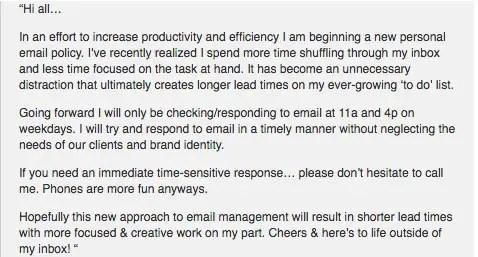 Tim Ferriss Batching Email Technique