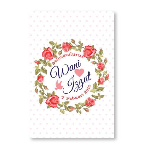 Kad kahwin floral 30