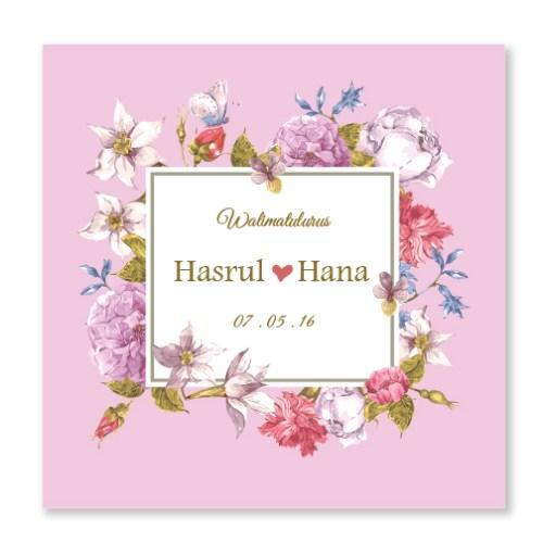 Kad Kahwin Floral 42