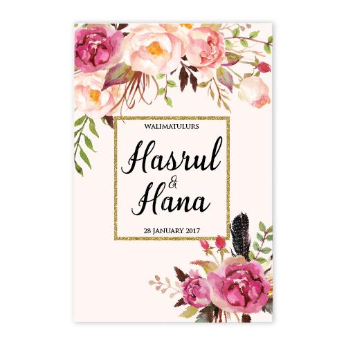 kad kahwin floral 50