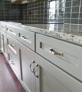 Semi full overlay with shaker fronts.