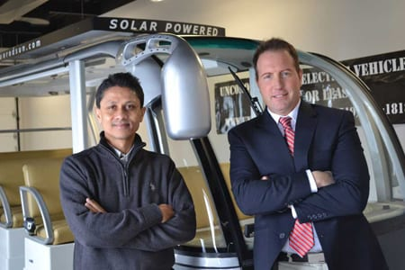 University research team shows solar energy extends electric vehicle driving range