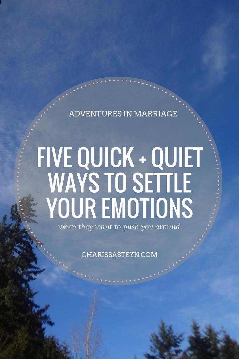 5 quick and quiet ways