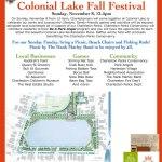 Colonial Lake Fall Festival Sunday, November 8