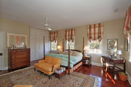 Spacious Master Bedroom with Fireplace