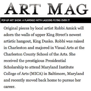 Robbi Amick in Art Mag