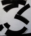 Black on White Abstraction #2 | The Art of Charley Brown