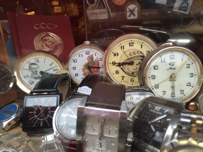 Random stuff in the market - who doesn't need a Hitler clock?