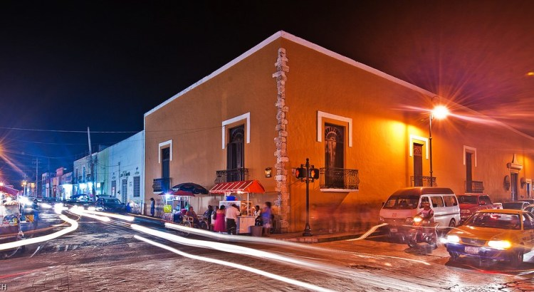 Valladolid Mexico by Night - Christopher William Adach