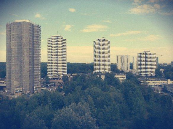 """To moje zdjęcie """"Kukurydz"""" z Osiedla Tysiąclecia w Katowicach. Jednym z projektantów był Aleksander Franta."""