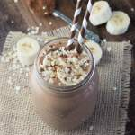 Coconut, Banana & Chocolate Breakfast Smoothie