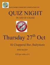 SM BCA quiz night poster