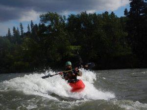 Tim front surfing