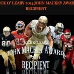 Nick OLeary - 2014 John Mackey Award Winner