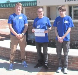 CCCC Math Instructor Kaan Ozmeral (center) is pictured with Dylan Jarmon (left) and Jarrett Cole (right), who recently participated in the 22nd Annual University of North Georgia Sophomore Level Math Tournament in Gainesville, Ga.